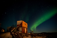 Aurora over the Heli-hut
