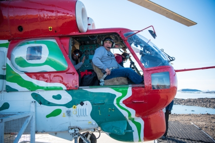 The Indians arrived in another Kamov helicopter piloted by Ukrainian pilots