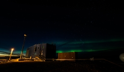 Aurora to the west with the Met (Meteorological) building in the foreground