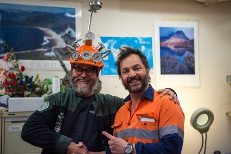 Tony (DSL) presents me with the 'Tool of the week' helmet