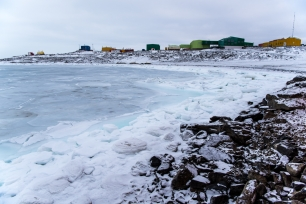Sea Ice thickening in front of the station
