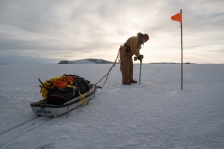 Me drilling the ice at Ice point 2